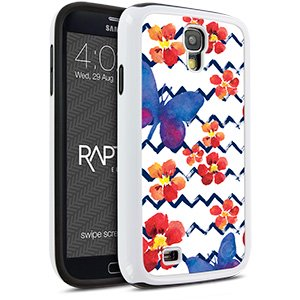 Cellairis Rapture Case for Samsung Galaxy S4 - Rapt Wh Flowers Butterfly - image 1 of 1