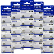 BlueDot Trading AG3 (also known as LR41 and LR736) Alkaline Button Cell Batteries - 50 Pack