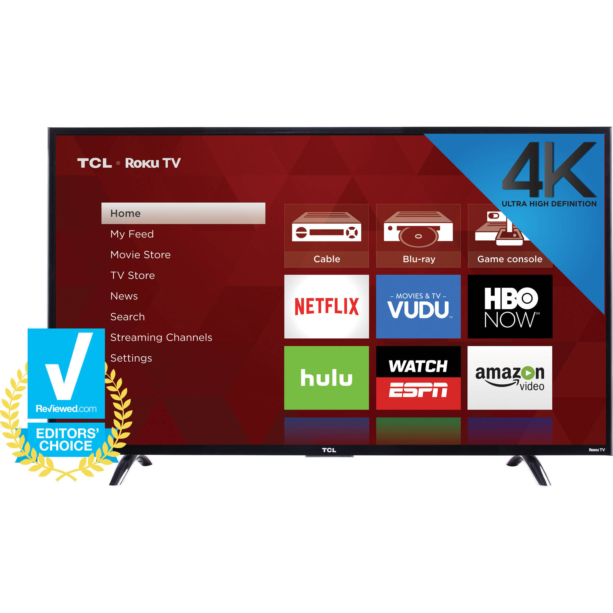 "TCL 55UP130 55"" 4K Ultra HD 2160p 120Hz Roku Smart LED HDTV"