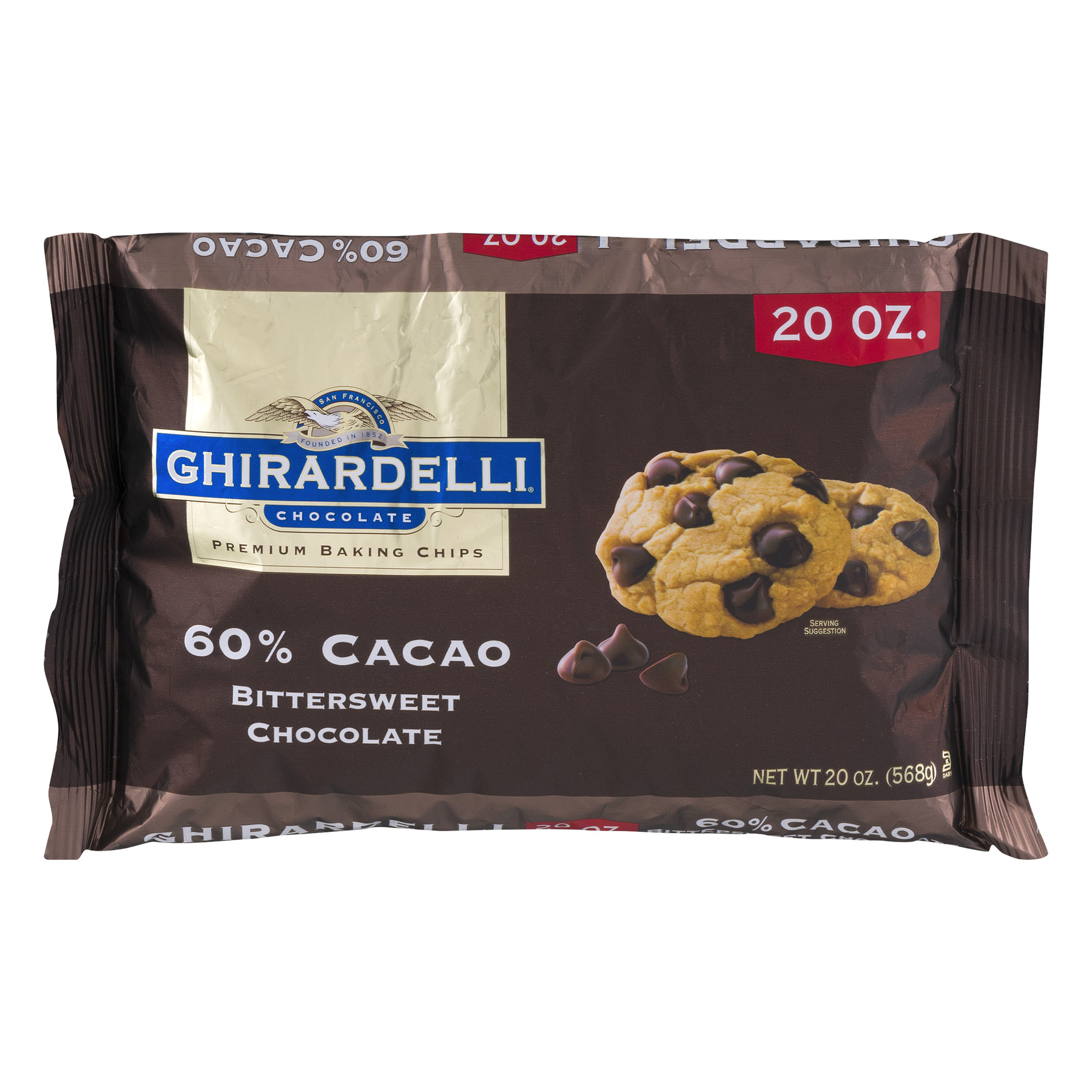 Ghirardelli 60% Cacao Bittersweet Chocolate Baking Chips, 20 oz