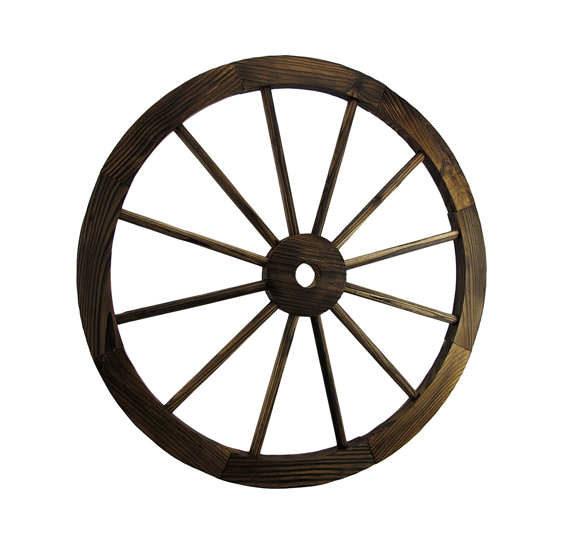 Wooden Wagon Wheel Decorative Wall Hanging Room Decor