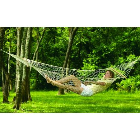 Mesh Hammock (Travel Camping Hammock - Comfortable Hanging Nylon Mesh Rope Hammock Sleeping Hanging Bed for Hiking Camping Outdoor 150lb Weight Capacity,79 x 32