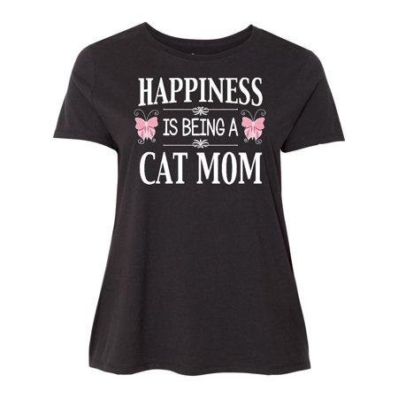 Happiness is being a Cat Mom Women's Plus Size