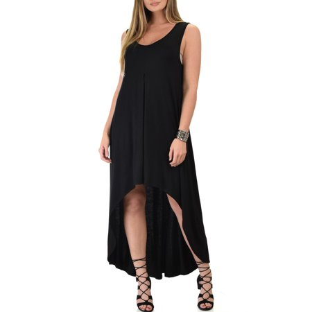 Lyss Loo Women's Rock & Ready Sleeveless Hi-low Maxi Dress