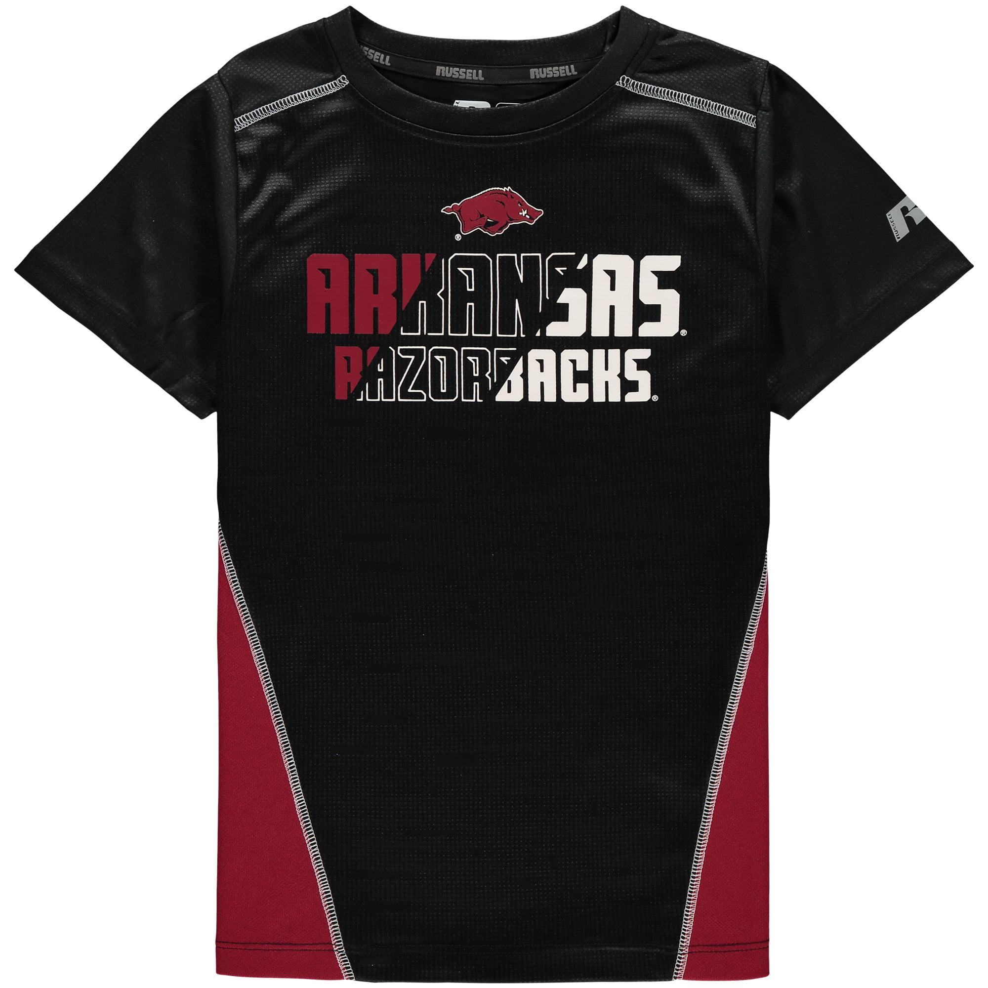 Youth Black Arkansas Razorbacks Impact T-Shirt