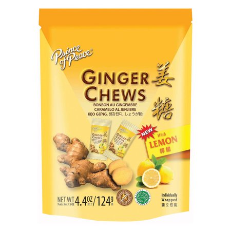 Prince Of Peace Candy Chews - Ginger Lemon - 4.40 Oz