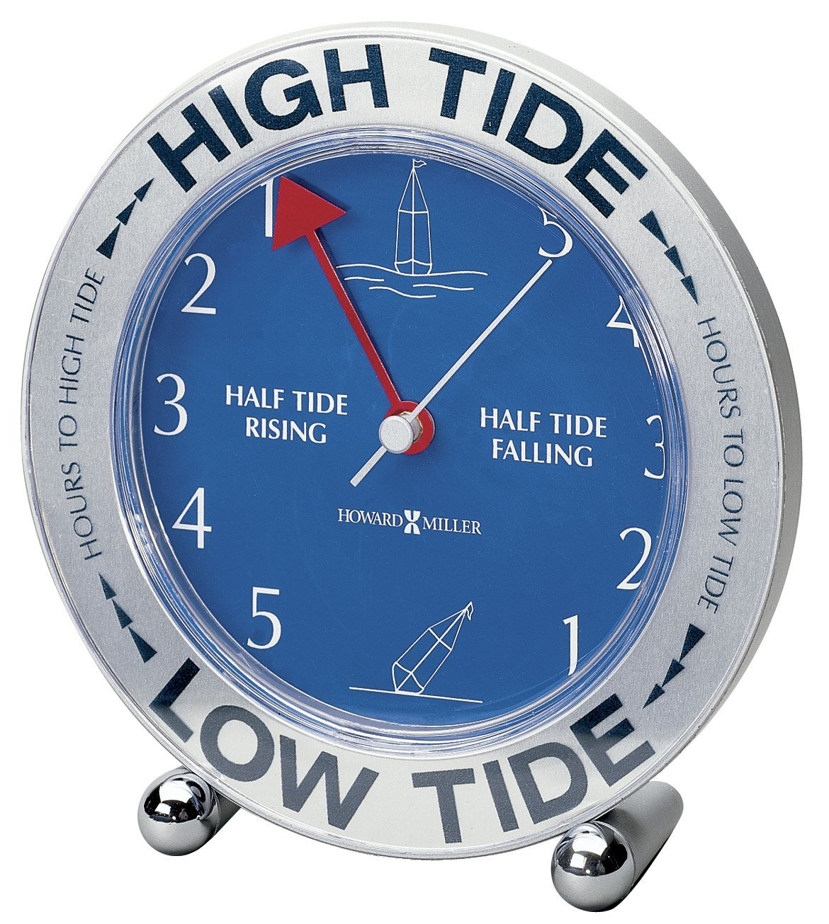 645-527 Tide Mate III Weather & Maritime Table Clock by, Features colorful digital graphics for high and low tide, with... by