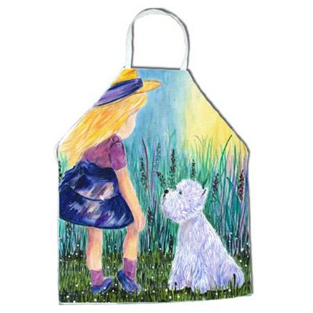 Carolines Treasures SS8351APRON Little Girl with Westie Apron - 27 x 31 in. - image 1 of 1