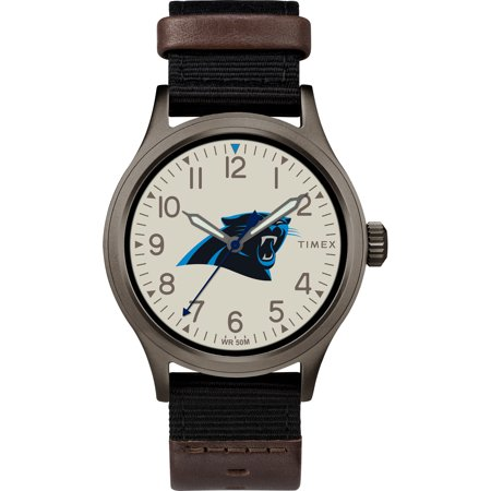 Timex - NFL Tribute Collection Clutch Men's Watch, Carolina Panthers Carolina Panthers Leather