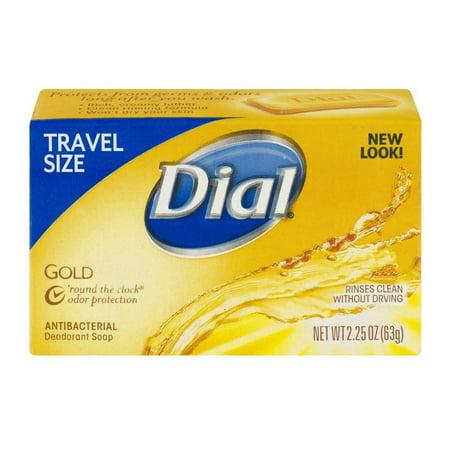 Dial Antibacterial Deodorant Travel Size Bar Soap Gold 2 25 Oz Pack Of 6