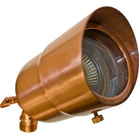 Dabmar Lighting LV29-HOOD-LED3-CP Brass Spot Light 3W LED - MR16 12V, Copper