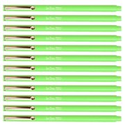 Uchida Fluorescent Green Le Pen .3MM Micro Ex Fine Synthetic Point Smudge-Proof Ink 12 Pens