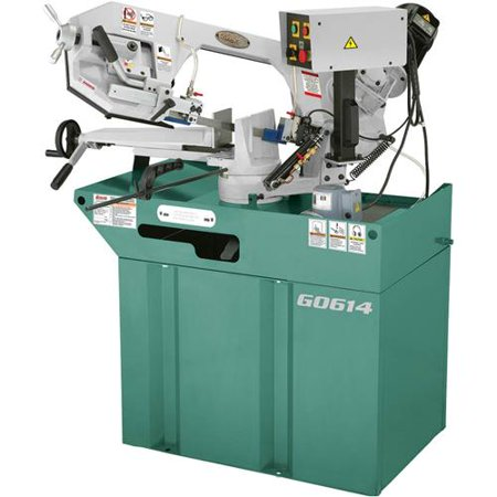 """Grizzly Industrial G0614 6"""" x 9-1/2"""" 1-1/2 HP Swivel Metal-Cutting Bandsaw"""