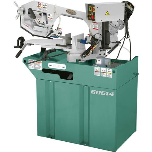 "Grizzly G0614 6"" x 9-1/2"" 1-1/2 HP Swivel Metal-Cutting Bandsaw"