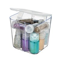 Deflecto 29101CR Stackable Caddy Organizer Small Container, White