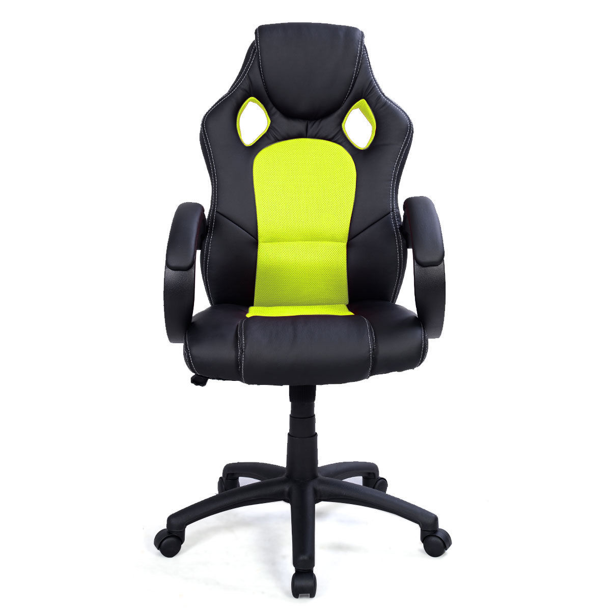 GHP 550Lbs Capacity Green Bucket Seat Racing Style Pneumatic Swivel Office Chair