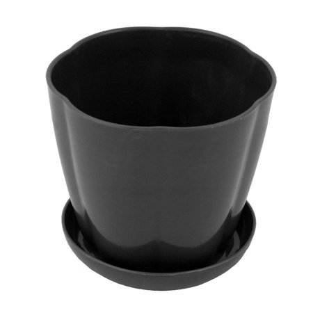 Plastic Table Decoration Plant Container Planter Holder Flower Pot Tray Black