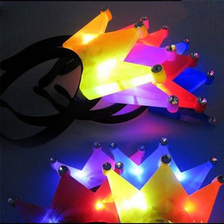 LWS LA Wholesale Store  12 PACK Light-Up Princess Crown Headbands LED Blinking Flashing Frozen Supplies