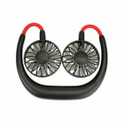 VicTsing Portable Sports Fan USB Rechargeable Charging Handheld Neckband Fan Mini Double Fans 3 Speed Adjustable Wearable for Home Office Traveling,black