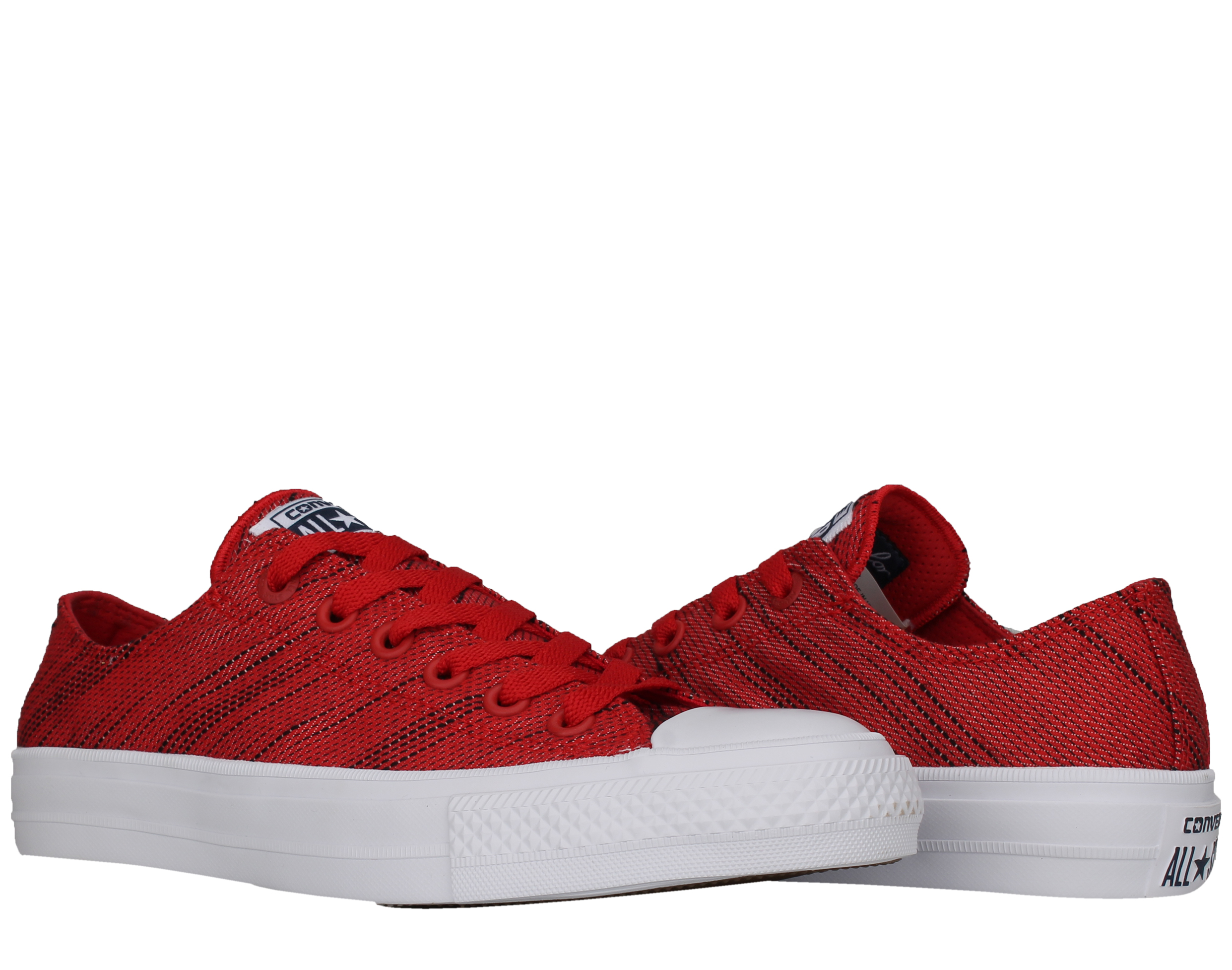 Converse Chuck Taylor All Star II Low Top Red Black White Men's Shoes 151090C by Converse