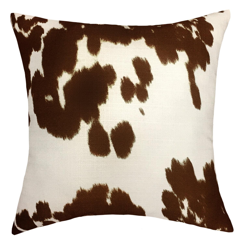 Mainstays Faux Cow Hide Decorative Throw Pillow 18 X 18 Walmart Com Walmart Com