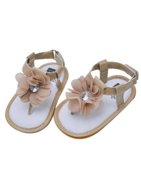 Product Image Sweetsmile Infant Baby Girl s Summer Sandals Flower Soft Sole  Crib Shoes for Kids Toddler Girl On bef6a10e4ad1