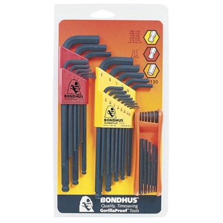 Bondhus 14130 TriplePK,Balldriver L-wrench Sets GorillaGrip Hex Set