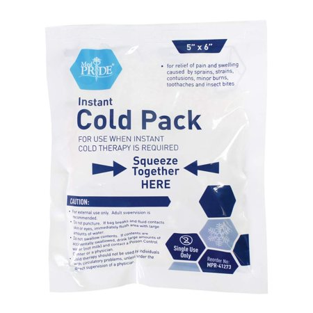 """- Medpride Instant Cold Pack (5""""x 6"""") – Set of 24 Disposable Cold Therapy Ice Packs for Pain Relief, Swelling, Inflammation, Sprains, Strained Muscles, Toothache – for Athletes & Outdoor Activities"""