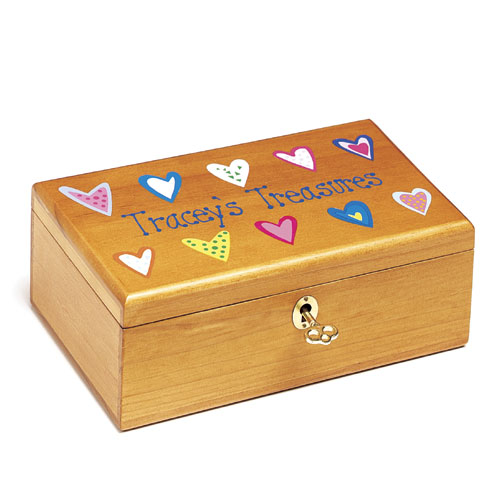 Personalized Little Girl Treasure Box With Key