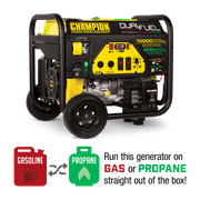 Champion 100297 8000-Watt Dual Fuel Portable Generator with Electric Start