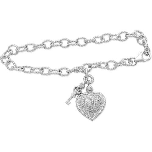 """1/5 Carat T.W. Diamond Charm Bracelet, 7.5"""""""