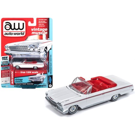 1962 Chevrolet Impala Open Convertible White w/ Red Interior