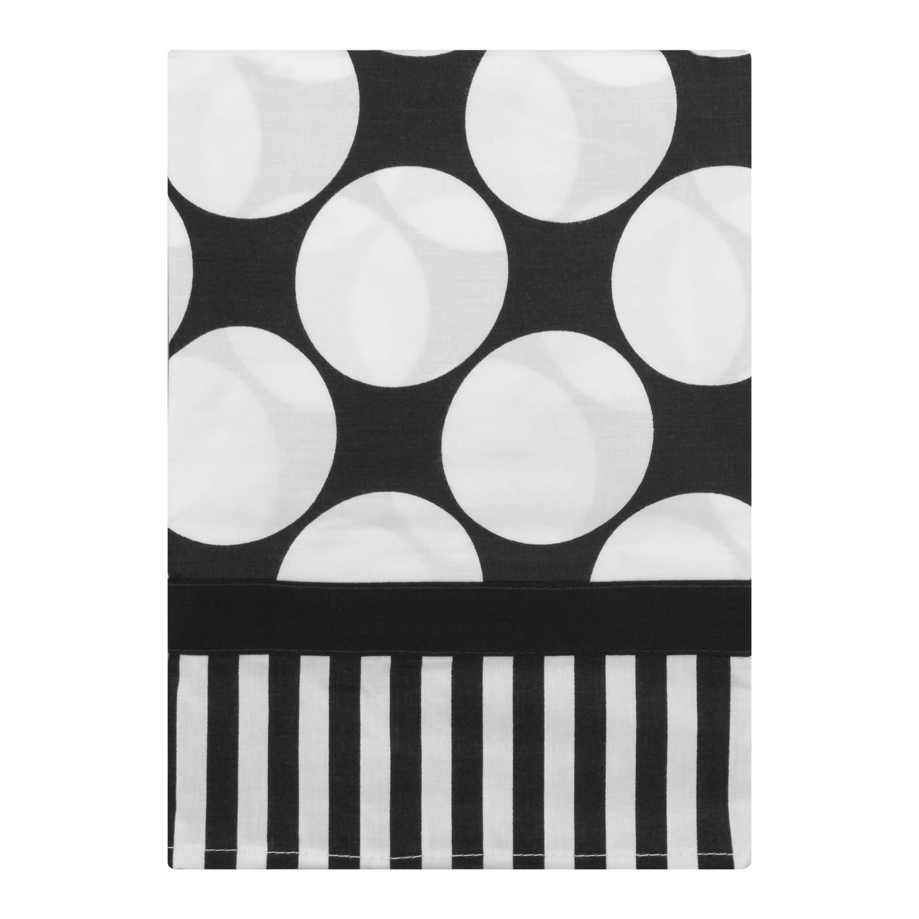 Bacati Window Valance Black White Dots Pin Stripes, 1.0 CT by Bacati