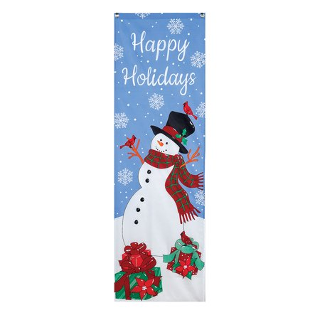 Frosty The Snowman Winter Door Banner Decoration Happy Holidays