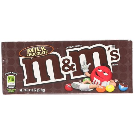12 PACKS : M&M's Milk Chocolate Candy Theater Box, 3.1 oz