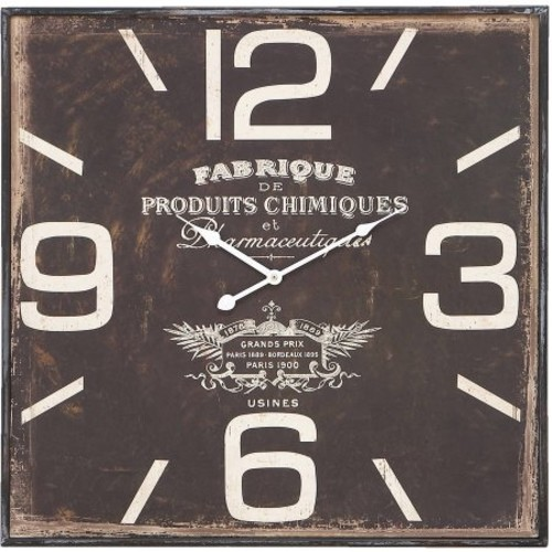 Metal Wall Clock in Ultra Design with Dark and Rustic Finish