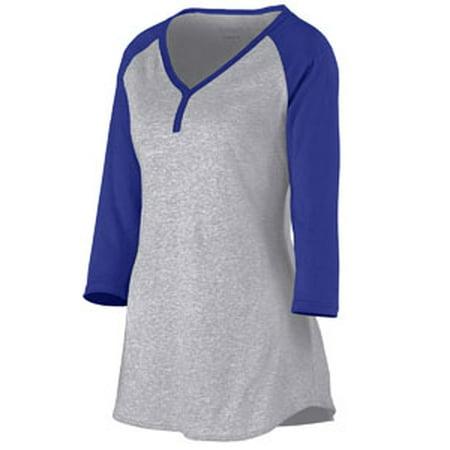 Ladies' Rave Henley AG1263 Augusta Sportswear Henley