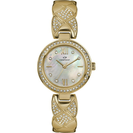 Women's 30mm Mother-of-Pearl Dial Watch, Gold-Tone Bracelet