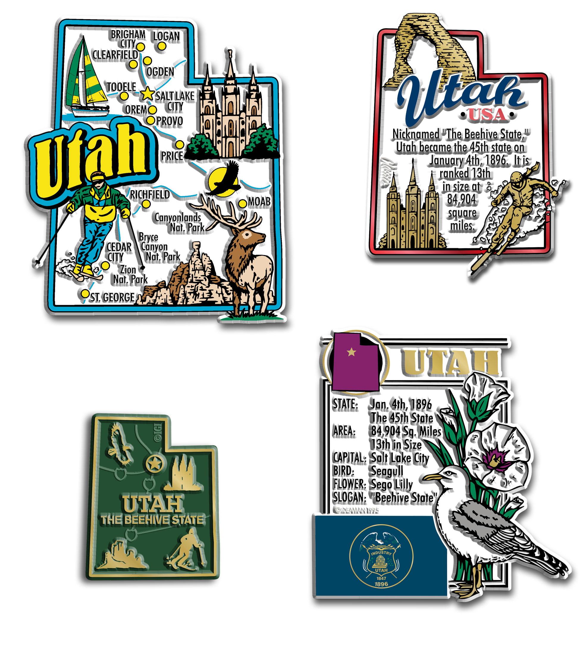 Four-Piece State Magnet Set - Utah