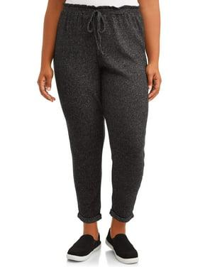 Dynamite Juniors' Plus Size Cozy Ribbed Sweatpants