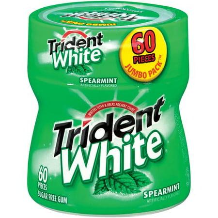 Trident White Spearmint Sugar Free Gum, 60 ct (Trident Spearmint Sugar Free Gum)