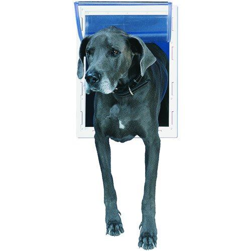 Ideal Thermoplastic Pet Door White, Super Large for pets to 120 lbs.