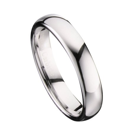 4mm Mirror Polished Comfort Fit Ring Tungsten Carbide Wedding Band