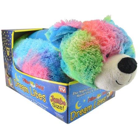 Pillow Pets Dream Lites Jumbo Rainbow Peaceful Bear