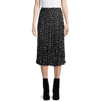 Time and Tru Women's Midi Crinkle Skirt