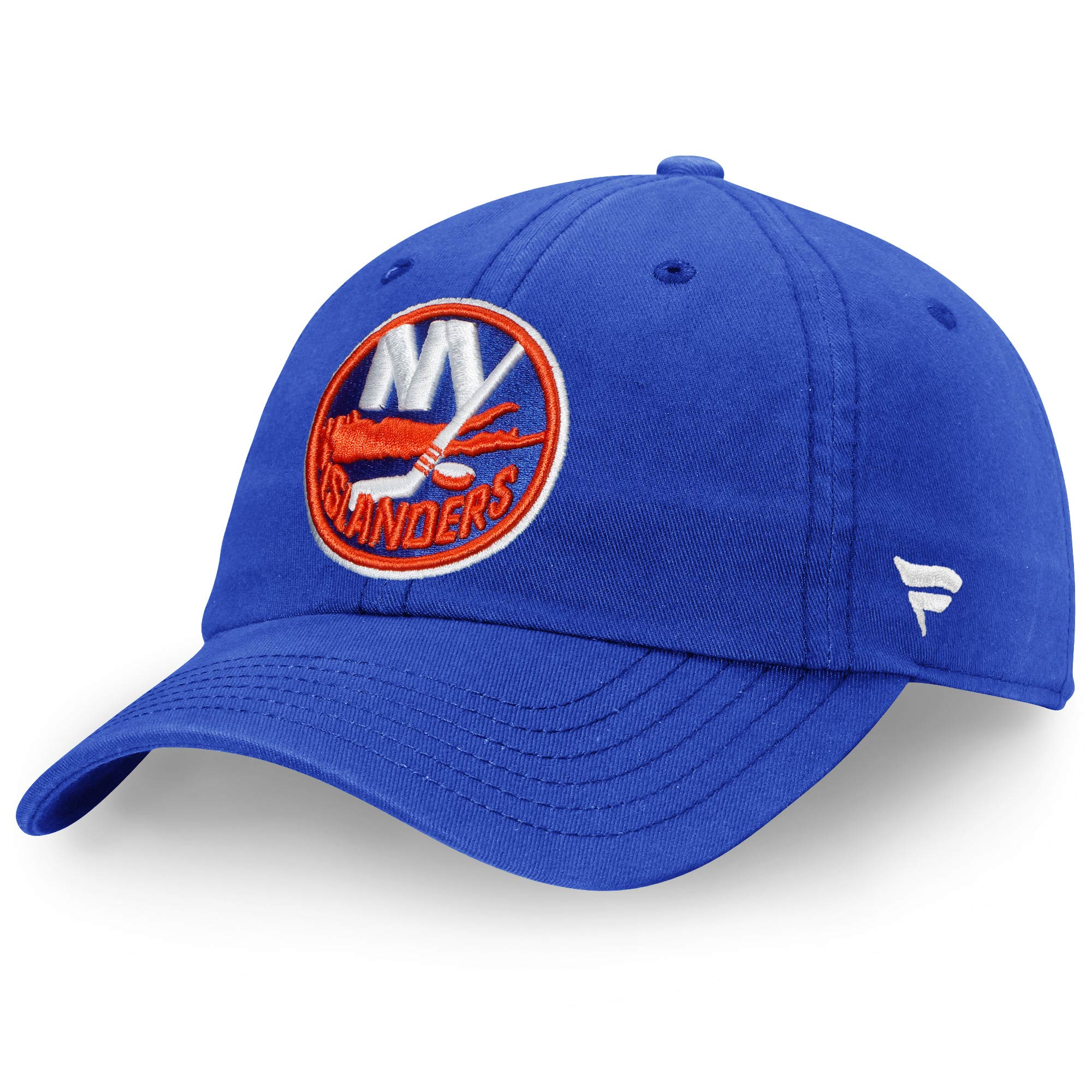New York Islanders Fanatics Branded Vintage Fundamental Adjustable Hat - Royal - OSFA