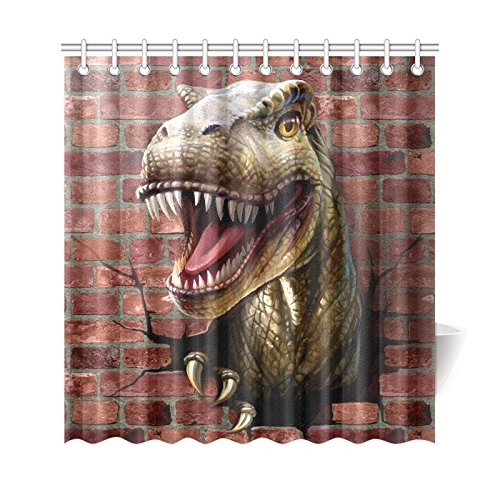 GCKG Genertic Dinosaur Home Decor Polyester Fabric Shower Curtain Bathroom Sets With Hooks 66x72 Inches