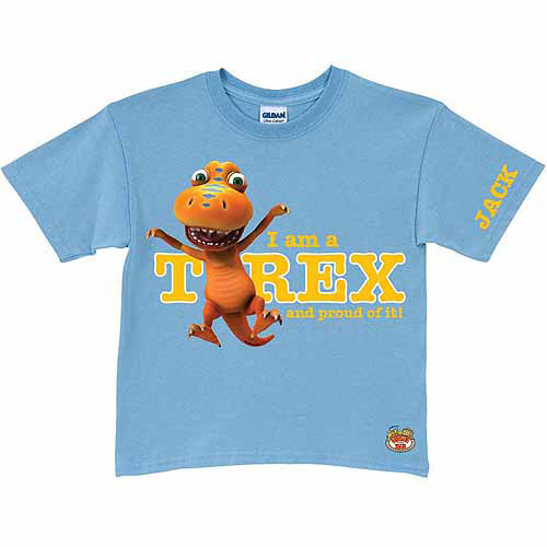 Personalized Dinosaur Train Proud to Be A T-rex Toddler Boy Light T-Shirt, Blue