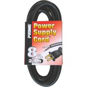 Prime 8-Feet 16/2 SJT Replacement Power Supply Cord, Black