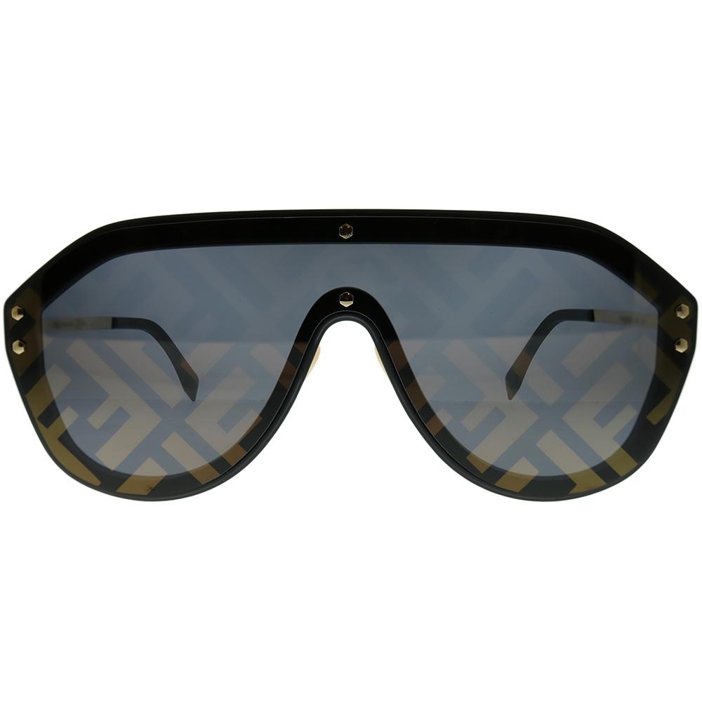 05f55c5c6c8 Fendi Men FF M0039 G 2M2 7Y Unisex Shield Sunglasses - Walmart.com
